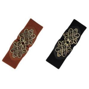 Accessories - Leaf Scroll Buckle Belt